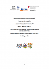Draft Mission Report of First follow up technical mission on GGRETA project implementation