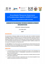 Summary of the Stampriet regional technical seminar on GGRETA project implementation